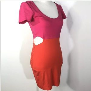 Lucca Couture Size Small Color Block Bodycon Dress